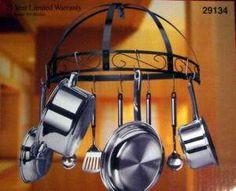 astrid wrought iron wall wine rack towel on PopScreen Pot Rack Hanging, Hanging Pots, Wrought Iron Wall Decor, Pan Rack, Wine Rack Wall, Towel Holder, Towel Racks, Brushed Stainless Steel, Black Enamel