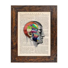 Complexity of A Brain Original Collage Print on an by AvantPrint, $9.00