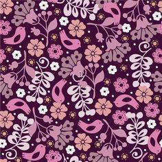 floral con pajaritos