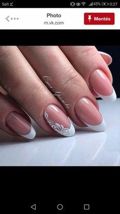 Gelish Nails, Nail Manicure, Wedding Manicure, French Nail Art, Funky Nails, Beautiful Nail Art, Nails Inspiration, Mehndi, Nailart
