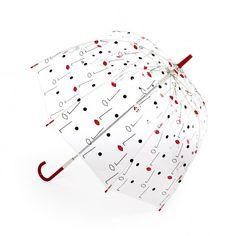 Birdcage Two Face Print Umbrella / Lulu Guinness