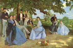 Jean Frédéric Bazille,1867. Familieréunie.