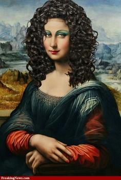 Mona Lisa look Real Mona Lisa, Mona Lisa Smile, La Madone, Mona Lisa Parody, Montage Photo, Plastic Art, Foto Art, Many Faces, Funny Art