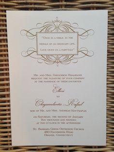 Sparkly gold ink wedding invitation Bar Mitzvah Invitations, Wedding Invitations, Ordinary Lives, Addressing Envelopes, Gold Ink, Bat Mitzvah, Letterpress, Save The Date, Stationery