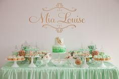 creative buffet table ideas | Christening Decorating Ideas | Christening decorations