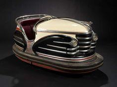 Vintage French fairground bumper car from a collection by Fabienne and François Marchal  http://next.liberation.fr/culture/11011636-la-passion-de-l-art-forain#s1