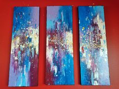 "#ART #TRIPIECE #MODERN #ABSTRACT #EXPRESSIONISM #CANVAS #GALLERY #TITLED ""WONDERLAND!"" AVAILABLE FOR PURCHASE."