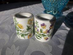 Vintage West Germany set 2 porcelain candle holders by HuntWithJoy,