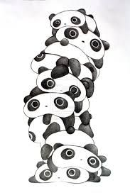 they're STACKED TARE PANDAS!!!!!