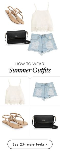 """Summer outfit"" by simonetakayasu13 on Polyvore featuring Swell, Accessorize and Kate Spade"