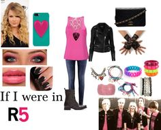 """If I were in R5"" by hazzastyles19 ❤ liked on Polyvore"