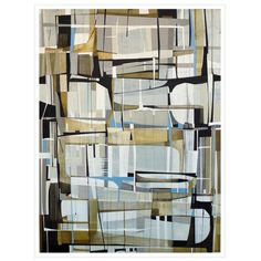 """""""Lunette,"""" Framed 52"""" x 40"""" Painting By Artist James Kennedy"""