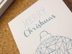 Geometric pattern illustrated Christmas card