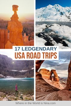 Road tripping is my favorite way to travel, and the US provides an endless compilation of stunning vistas, incredible national parks, and adventures for days (or years!), making it a fantastic road trip destination. I put together a list of 17 of the best USA Road Trips you can take, that cover some of the most interesting and beautiful regions of the United States - so get planning! | Where in the World is Nina? #usaroadtrips #roadtrip #usatravel