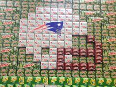 Soda display at our walmart during football season, taken by me, Mary Jackson