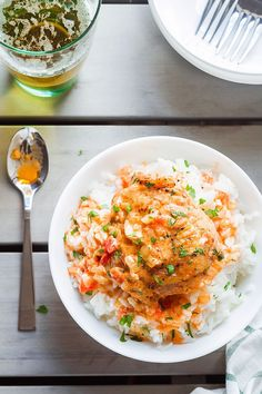 Butter Chicken - Crisp-tender with the creamiest sauce ever – You'll go crazy over this comforting dinner! Chicken Crisps, Butter Chicken Sauce, Creamy Sauce, Risotto, Keto Recipes, Meal Prep, Chicken Recipes, Food And Drink, Low Carb