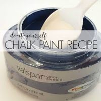 Save time and money by mixing your own DIY chalk paint using store paint samples! DIY chalk paint recipe included.