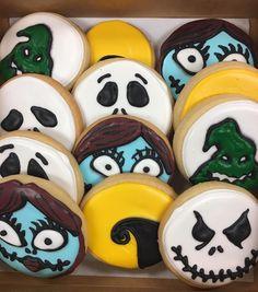 Nightmare Before Christmas Cookies by @cookiesbykatewi