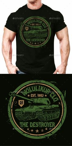 Buy Tank T-shirt Design by wolulikur on GraphicRiver. Description: - Dark T-shirt only - Organized layer; - Editable Text and Color; - Font Used are included inside the re. T Shirt Design Template, Shirt Print Design, Shirt Designs, Juniors Graphic Tees, Cute Graphic Tees, Text Design, Graphic Design, Mobile Web Design, Custom Made Shirts