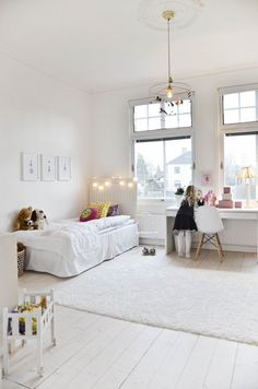 Little girl room.shoot my room Casa Kids, Deco Kids, Deco Design, Little Girl Rooms, Kid Spaces, My New Room, Kids Decor, Girls Bedroom, White Bedroom