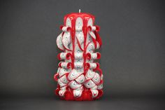 Mother day giftGift for momRed candleWife by EveArtCandles on Etsy