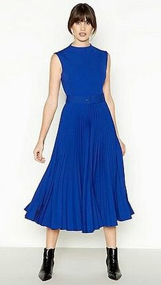 4523aa709299 J By Jasper Conran, Pleated Midi Dress, London Blue, Debenhams, Mother Of