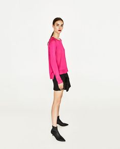 Image 1 of SWEATER WITH SIDE SLITS from Zara