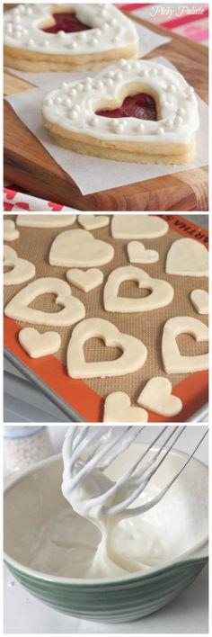 Valentine Shortbread Cookie Sandwiches.