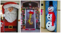 23 Décorations de porte réjouissantes pour Noël