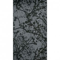 ferm LIVING Wilderness Wallsmart Wallpaper in Black with Lacquer - 125