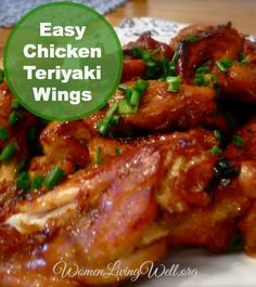 """Janelle from Comfy in the Kitchen is back with this Easy Chicken Teriyaki Wings recipe! Janelle writes: Ahhhh wings. For some reason, they are a """"big deal"""" in this house. Watching """"the game"""" and eating wings go hand in hand. I don't know about you, but there are times I get very disappointed by the …"""