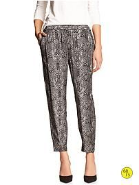 Factory Soft-Cuff Zipper Pant #bananarepublic