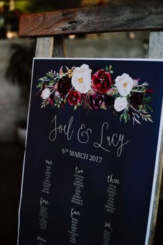 The Lucy Suite Seating Plan. Marsala, Navy & Gold Weddings - The Sundae Creative