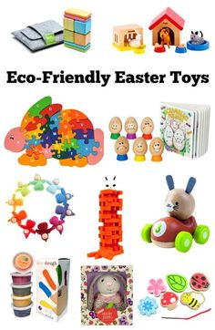 These eco-friendly Easter toys make it easy to fill your child's Easter basket with good quality gifts. Click through to find links to several eco-friendly ideas that you can buy or DIY for kids of all ages. Easter Ideas   Easter Gifts