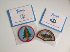 Special offer Twin Peaks ironon replica Patch Set by JennisPrints, $16.00