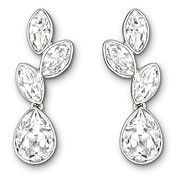 Swarovski Tranquility Pierced Earring of clear crystals