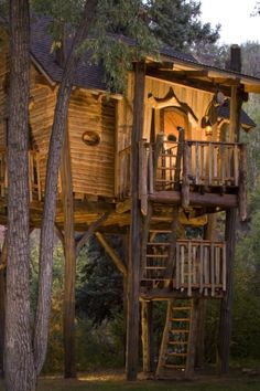 Whimsical Treetop Sanctuary on Crystal River, Colorado by Green Line Architects.