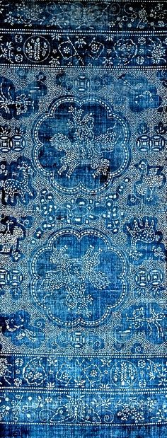 soft, deep blues and delicate patterning. Lovely #print idea