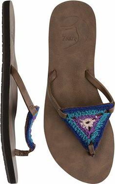 Reef crochet sandal.