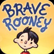 """Brave Rooney, $1.99. Jane Farrall--Picture book about a boy who goes to a  school full of super heroes. Has a """"read to me"""" version and an """"I can read"""" version. One or two lines to text on each page. Word by word hightlighting"""