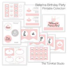 Tomkat studio - Ballerina Birthday Printables