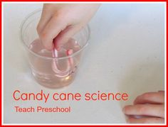 water preschool activities, cane scienc, christmas classroom, candi cane, candy canes, teach preschool, science activities preschool, preschool winter