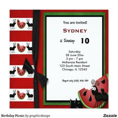 Sold #Birthday #Picnic #Invitation #kids Available in different products. Check more at www.zazzle.com/graphicdesign
