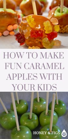 How to make simple caramel apples. Step by step instructions on how to involve your kids Step By Step Instructions, Caramel Apples, Fig, Make It Simple, Easy, Desserts, How To Make, Recipes, Deserts