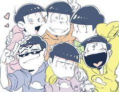 ichimatsu, osomatsu, karamatsu, jyushimatsu, choromatsu, todomatsu <3