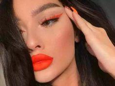 super ideas for nails orange lips Orange Things orange eyeliner Orange Makeup, Red Makeup, Crazy Makeup, Pretty Makeup, Makeup Inspo, Makeup Ideas, Witch Makeup, Beauty Makeup, Face Makeup