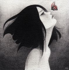 May Ann Licudine Illustration. Pretty Art, Cute Art, Aesthetic Art, Aesthetic Anime, Image Pastel, Art Sketches, Art Drawings, Arte Obscura, Anime Art Girl