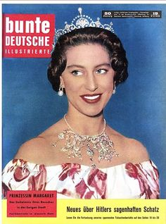 on the cover of Bunte, with elements of the Poltimore tiara worn as a necklace