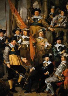 De schutters van de compagnie van Kapitein Albert Bas en Luitenant Lucas Conijn, geschilderd door Govert Flinck, 1645. Doek, 347×244 cm. Amsterdam Rijksmuseum.