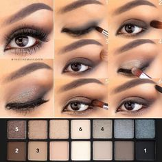 Best Ideas For Makeup Tutorials : Kate V Steps for sparkly smokey eyes using Full Exposure pale… - Smokey Eye Makeup Smashbox Eyeshadow Palette, Smashbox Cosmetics, Brown Eyeshadow, Glitter Eyeshadow, Eyeshadow Looks, Glitter Makeup, Eye Makeup Blue, Mac Makeup, Makeup For Brown Eyes